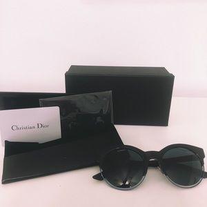 Dior Blue Avio Cat Eye Ladies Sunglasses